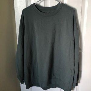 Olive Green Aerie Crewneck Sweatshirt